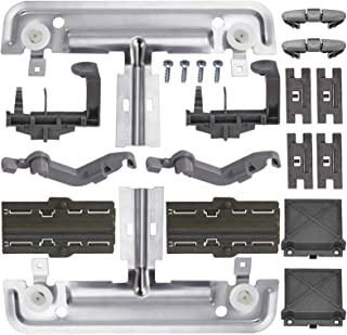 Upgraded 20 PCS W10712395 Dishwasher Upper Rack Adjuster Metal Kit & Compatible with kenmore whirlpool kitchen aid,Dishwas...