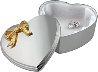 silver plated heart box