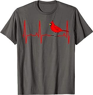 Cardinal Heartbeat Shirt - Cardinal Bird Lover Tee