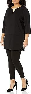 Joan Vass Women's Plus Size Textured Dolman Top