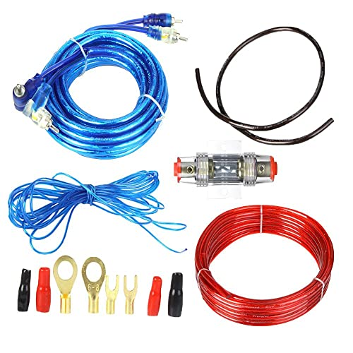 boladge 1500w car audio subwoofer amplifier wiring kit fuse holders wire  cables ground wire