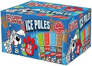 60 x 80ml Original Slush Puppie Ice Poles/Lollies for Kids, Party, Events, Summer