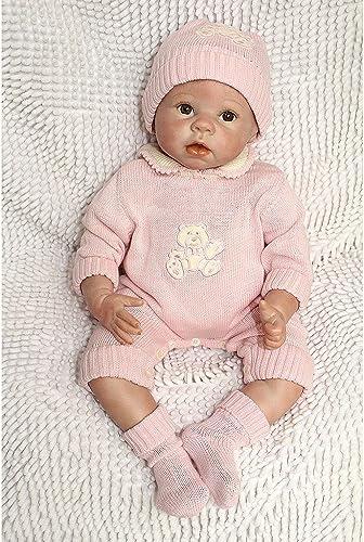 QXMEI Spielzeug Puppe Simulation Reborn Baby Puppe Weißhe Silikon Puppe Baby Fotografie Kostüme