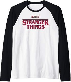 Stranger Things Netflix Logo Manche Raglan