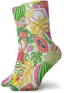 tyui7, Calcetines de compresión antideslizantes con estampado de pata de calcetín Calcetines deportivos de 30 cm para hombres, mujeres y niños