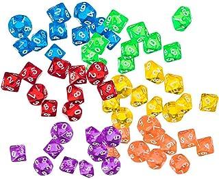 Yourandoll 60個 多面体ダイス D10 サイコロ 10面ダイス Dungeons and Dragons 、DND、 TRPG、 MTG ダイス などテーブルゲーム用 (A)