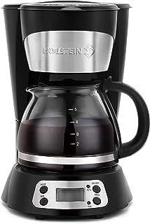 Holstein Housewares Programmable 5-Cup Coffee Maker, Black