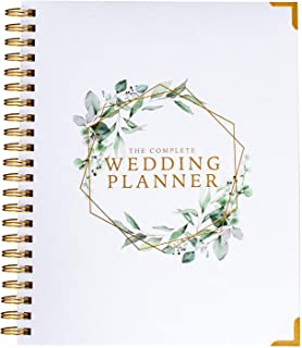 Your Perfect Day Wedding Planner Floral Gold - Undated Bridal Planning Diary Organizer - Hard Cover, Pockets & Online Support