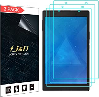 J&D Compatible for Lenovo Tab 4 8 inch Android Tablet Screen Protector (3-Pack), Full Coverage, HD Clear Protective Film S...