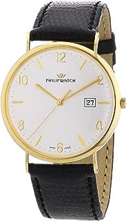 Philip Watch - Gold R8051551181 - Reloj de Caballero de Cuarzo, Correa de Piel Color Negro