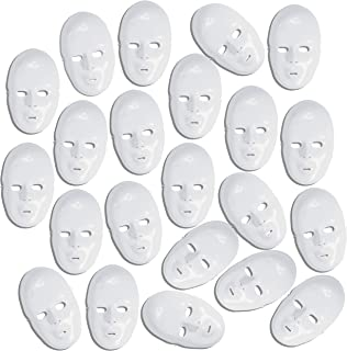 white plastic face masks bulk