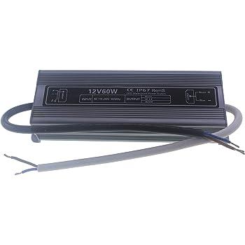 Transformador 12v de 150w IP67 impermeable apto para exterior NERLED Fuente de alimentaci/ón 220v a 12v de 150w 12,5Amperios
