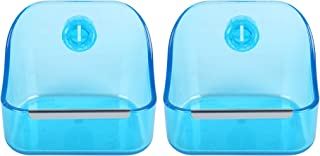 CalPalmy Food and Water Bowl 2 Pack for Rabbit Guinea Pig Chinchilla Best Bowl to Prevent Knocking Over Made from Non Toxic BPA Free Plastic and Minimizing Waste and Mess