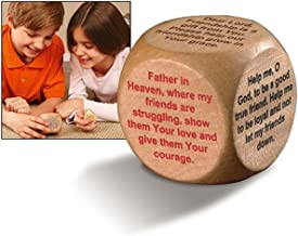 Prayer Cubes Wooden with Friendship Prayers, 1 5/8 Inch