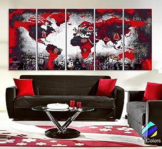 Amazon Com Red And Black Wall Decor
