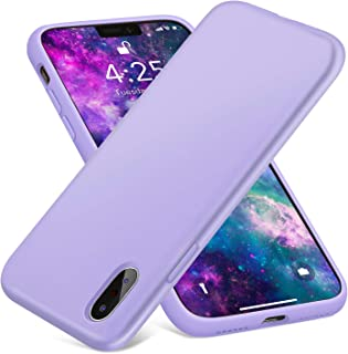 AOWIN Silicone Case for iPhone X iPhone Xs Case, Thicken Liquid Silicone Shockproof Protective Case Cover for Apple X/Xs 5.8 Inches (Purple)