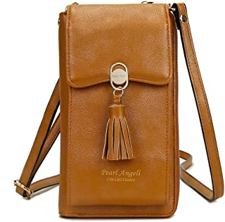 Women Crossbody Wallet RFID Blocking PU Leather CellPhone Card Holders Shoulder Bag for Girl Lady