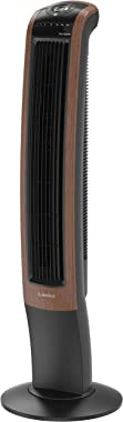 """Lasko Wind Curve Electric Oscillating Tower Fan with Bluetooth Technology for Indoor, Bedroom and Home Office Use, 42"""", Black"""