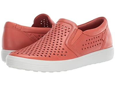 ECCO Soft 7 Laser Cut Slip-On (Apricot Cow Leather) Women