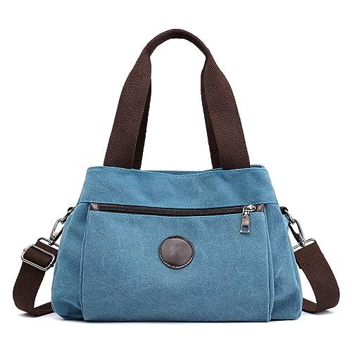 27f0135c4b30 Hiigoo Women s Casual Totes Bag Shoulder Bag Canvas Handbags 3-open  Crossbody Bag Messenger Bag