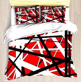 NTCBED Frankenstein Pattern (Red) - Duvet Cover Set Soft Comforter Cover Pillowcase Bed Set Unique Printed Floral Pattern Design Duvet Covers Blanket Cover Queen/Full Size