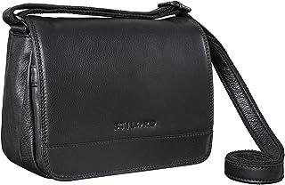 STILORD 'Malou' Elegante Leder Handtasche Damen Umhängetasche Breit Vintage Ledertasche zum Ausgehen Klassische Abendtasch...