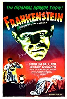 "Posters USA Frankenstein GLOSSY FINISH Movie Poster - FIL875 (24"" x 36"" (61cm x 91.5cm))"