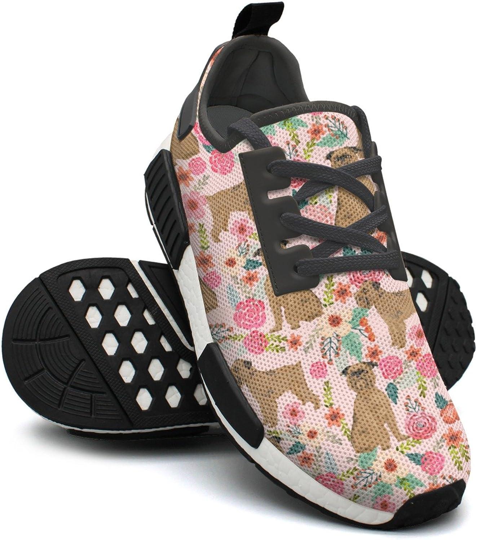 Ktyyuwwww Pretty Women colorful Cool Vintage Griffon Dog Floral Funny Sports Running shoes