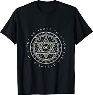 Freemason Illuminati T-Shirt Masonic Circle