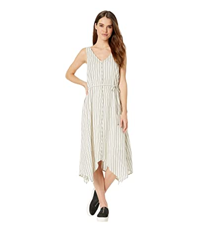 Splendid Tie Waist Dress (Off-White/Black) Women