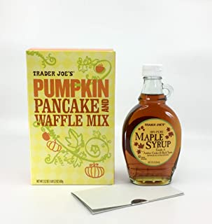 Trader Joes Pumpkin Pancake and Waffle Mix and Trader Joe's Pure 100% Maple Syrup Bundle Plus a Pumpkin Pie Donuts with Maple Glaze Recipe (2 Items + Bonus)