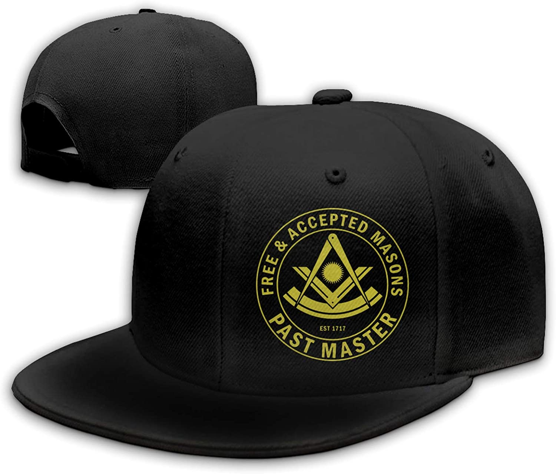 GRHTM Past Master F & Am Masonic Freemason Hat Flat Bill Cap Snapback Hat Baseball Cap Hip Hop Hat Dad Hat