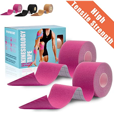 4 Rolls Pack Latex Free Breathable Beige Elastic Therapeutic Sports Tape for Knee Shoulder and Elbow Beige Water Resistant Udaily Kinesiology Tape Precut