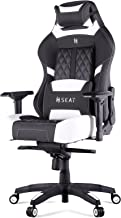 N Seat Pro 600 Series Executive Racing Design Computer Gaming Office Swivel Chair with Lumbar Support and Headrest Pillow Included, White