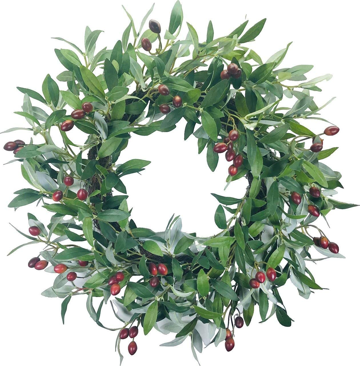 Olive Leaf Artificial Wreath 24