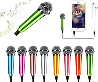 Mini Portable Vocal Microphone for Mobile Phone, Computer, Tablet, Recording Chat and Singing(Green)