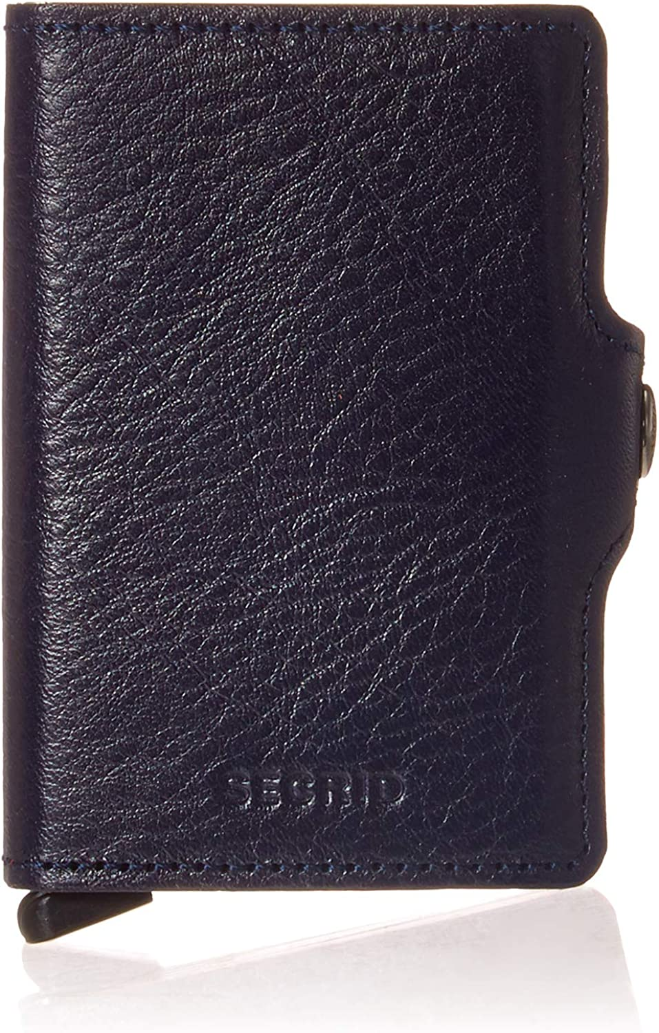 Secrid Twin Wallet Genuine Leather Veg Tanned Navy Safe Card Case max 18 cards