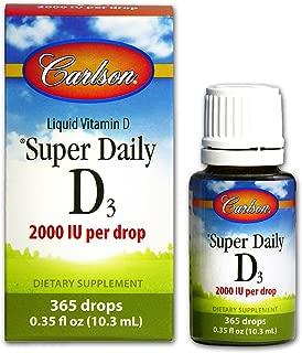 Carlson Super Daily D3 2,000 IU, 365 Drops