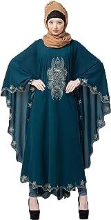 MRC Women Embroidered Abaya crepe fabric