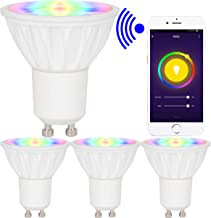 BAOMING® 5W GU10 Smart WiFi Led Spotlight,RGB+Warm White Dimmable Bulb Remote Control by Voice and Smart Phone,4pcs