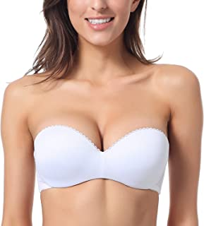 Women's Convertible Multiway Underwire Padded Push Up Strapless Bra