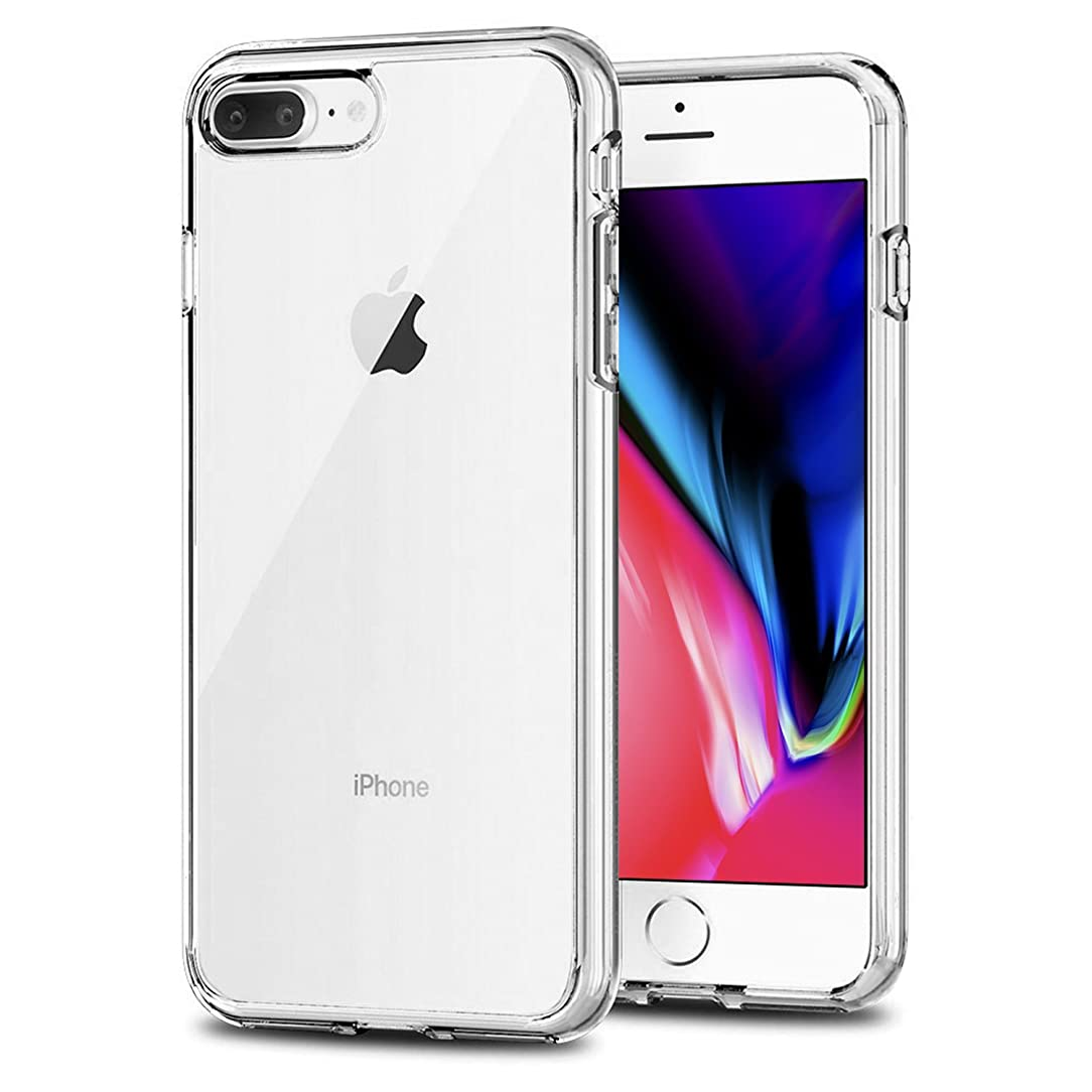 TENOC Case Compatible for Apple iPhone 7 Plus and iPhone 8 Plus 5.5 Inch, Crystal Clear Soft TPU Cover Full Protective Bumper jvs60925663