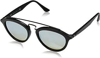 RB4257 Gatsby II Round Sunglasses, Matte Black/Mirror Gradient Grey, 50 mm