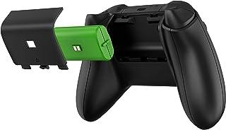 حزمة بطارية Xbox وكابل شحن مزدوج لوحدات تحكم X / S /Xbox، وداعم وحدة التحكم، وبطاريات قابلة لاعادة الشحن 1200 ميلي امبير ف...