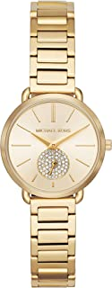 Michael Kors Women's Gold Dial Stainless Steel Band Watch - Mk3838, Gold Band, Analog Display