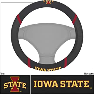 FANMATS NCAA Iowa State Cyclones Steering Wheel Coversteering Wheel Cover, Team Colors, One Sized