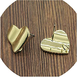 2 Pcs Copper Material Earrings Findings Golden Distorted Earrings Base Connectors Jewelry Findings and Components,J24
