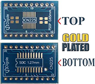 2PK SO SOP SOIC/SSOP 14/16/20 Pitch 0.65mm and 1.27mm to DIP Adapter Converter