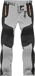 TBMPOY Men's Hiking Cargo Pants Outdoor Mountain Camping Fishing Zipper Pockets