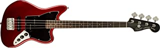 Squier by Fender Vintage Modified Jaguar Beginner Short Scale Electric Bass Guitar - Candy Apple Red